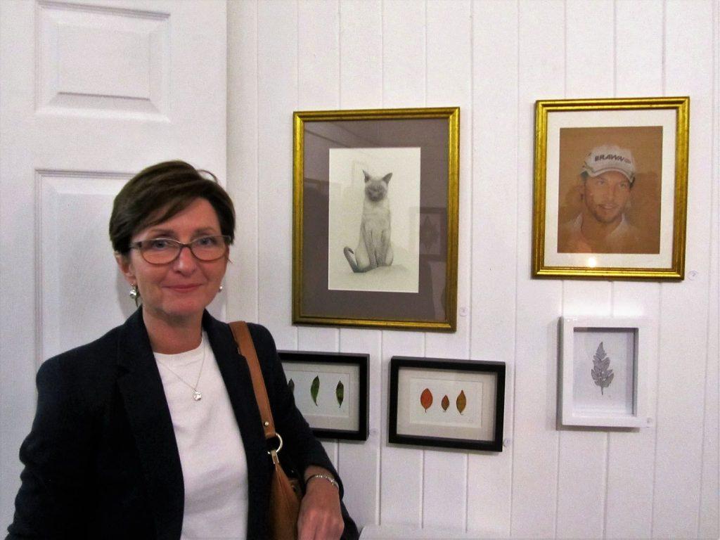 Felicity Grace exhibiting at the Clonakilty Community Arts Exhibition 2017
