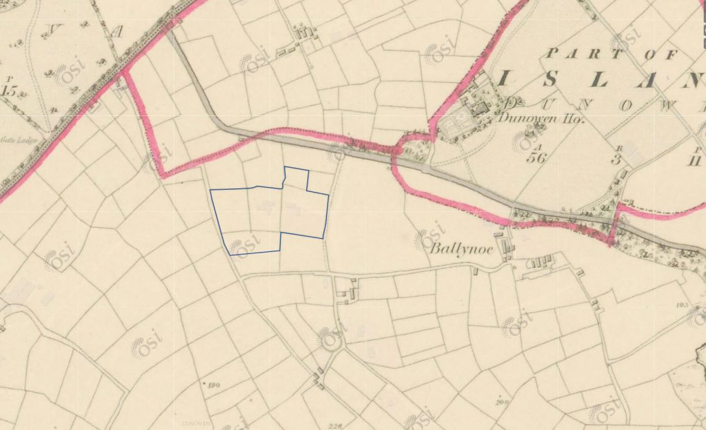 1837 map around the modern Ballynoe House