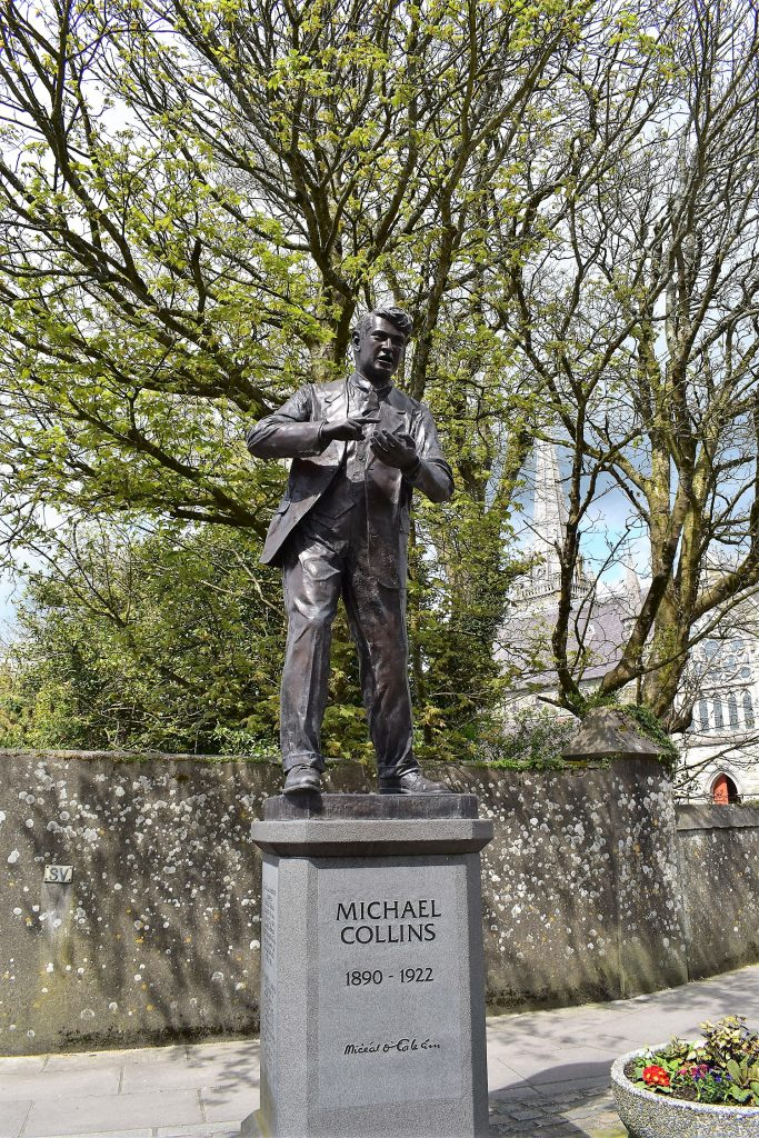 The statue of Michael Collins in Emmet Square, Clonakilty