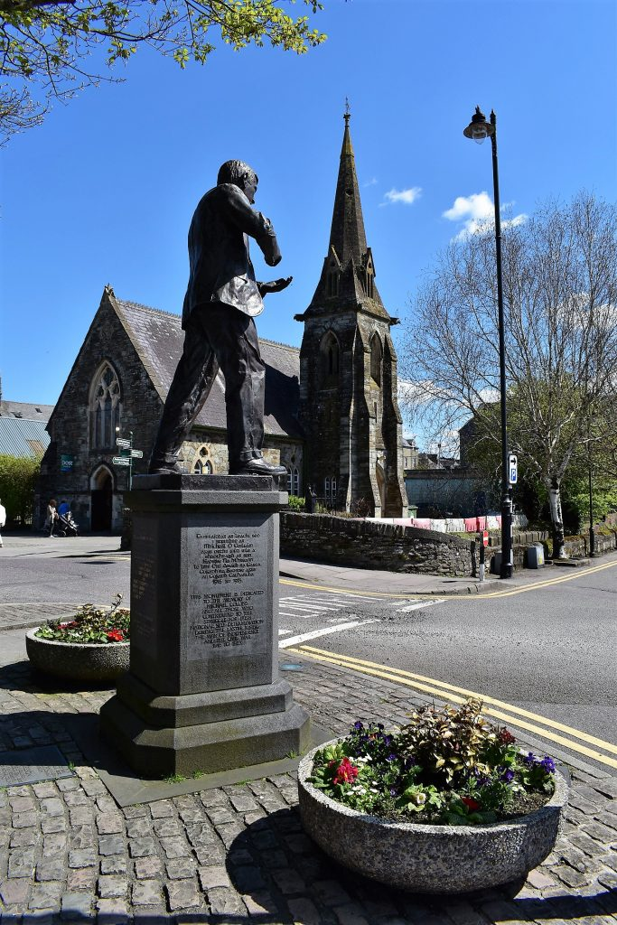Michael Collins Statue in Emmet Square