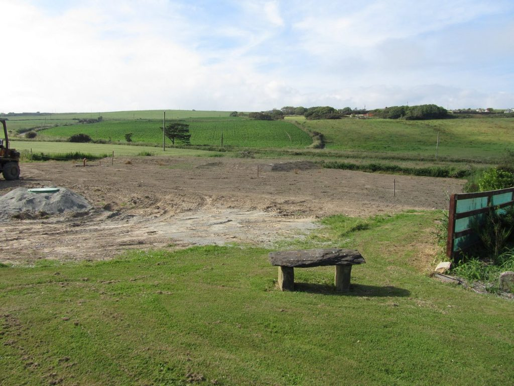 Lower Meadow after Groundworks at Ballynoe House