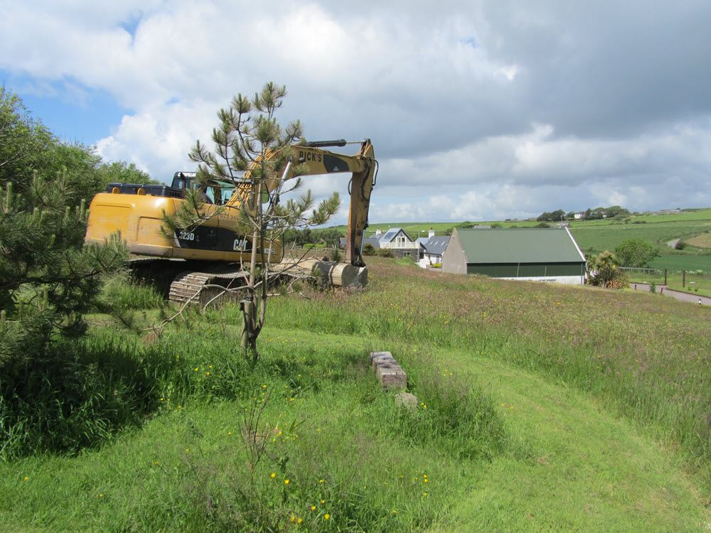 Development Work damaged part of the Upper Meadow