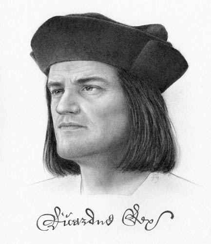 Richard III, drawn by Felicity Grace