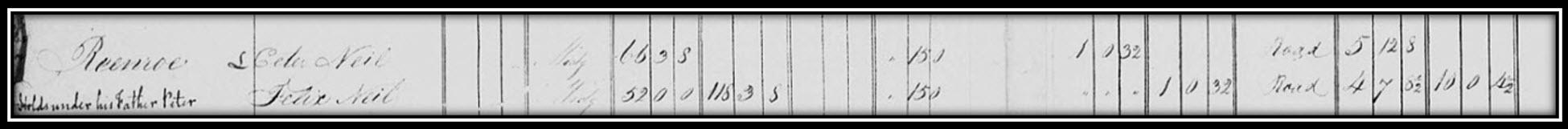 1826 Tithe Applotment List (Reenroe)