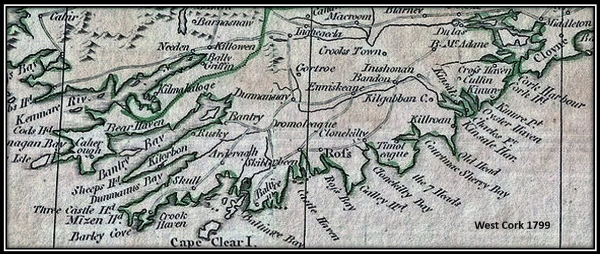 Map of West Cork 1799