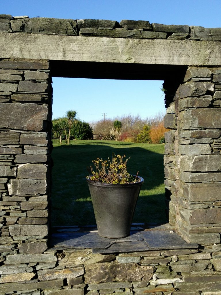 The formal garden at Ballynoe House