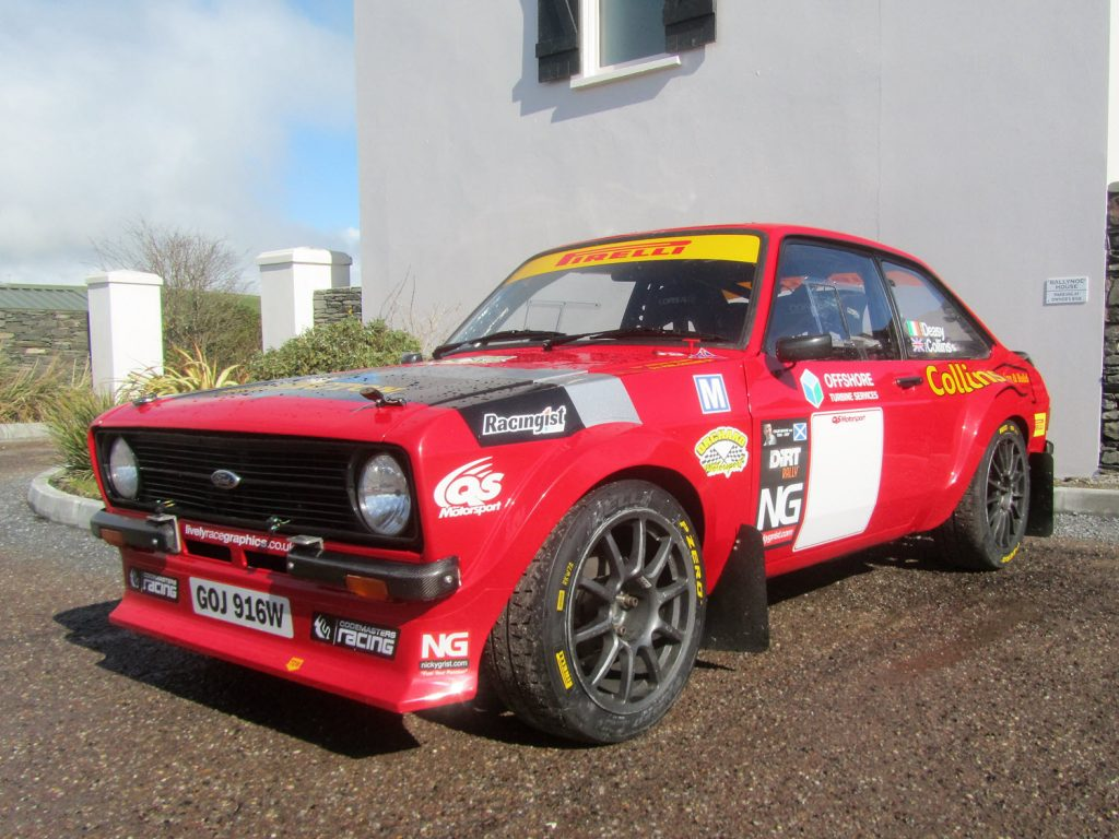 Phil Collins Rally Car - The first guest at Ballynoe Mews (2018 West Cork Rally)