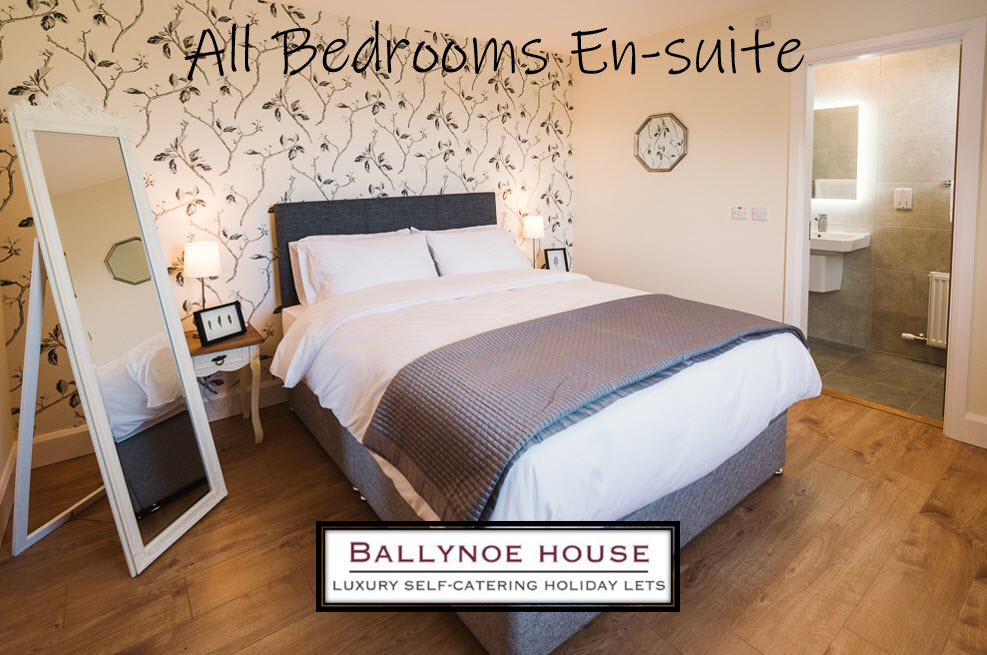 All Bedrooms are En-Suite at Ballynoe House.