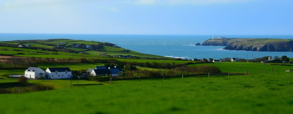 The View over Ballynoe House towards Galley Head