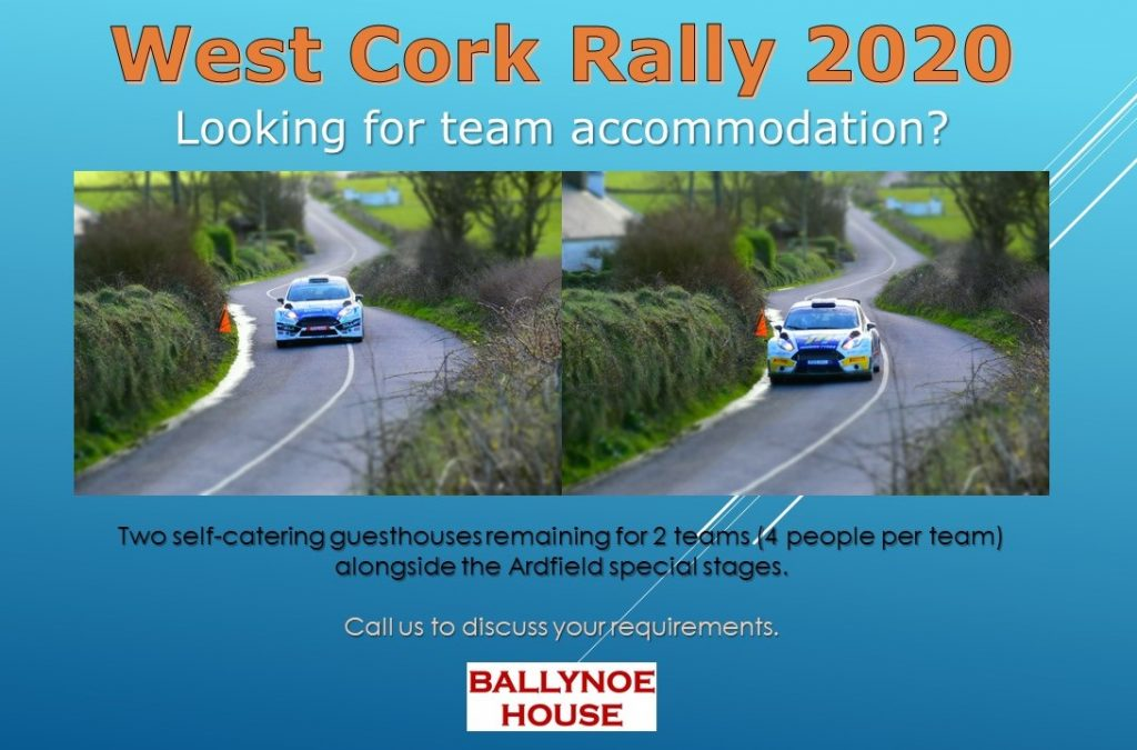West Cork Rally 2020 Team Accommodation